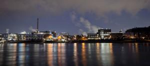 Nachtaufnahmen Industriehafen Mannheim